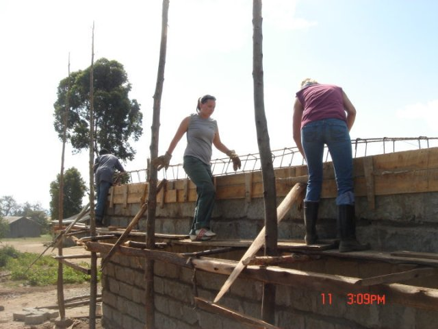 The Kambi Primary School/Community Library in Progress