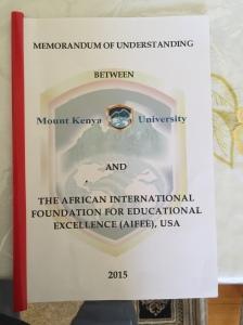 AIFEE signs MOU with Mt Kenya University